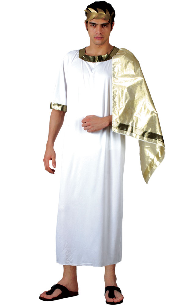 Christmas dress costumes - Ancient Greek God Caesar Toga Fancy Dress Costume Male Mens Stag Party